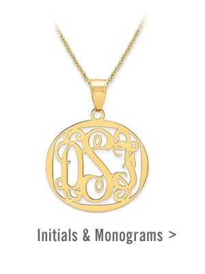 Shop Initials & Monogram Jewellery >
