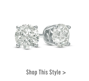 0.50 CT. T.W. Certified Diamond Solitaire Crown Royal Stud Earrings in 14K White Gold. Shop This Style >