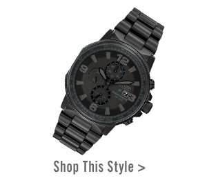 Men's Citizen Eco-Drive® Nighthawk Chronograph Black IP Watch with Black Dial. Shop This Style >
