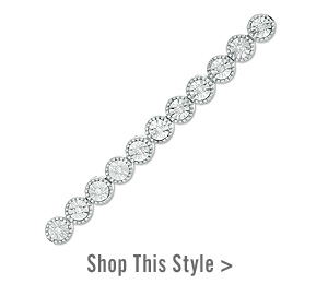 0.25 CT. T.W. Diamond Vintage-Style Tennis Bracelet in Sterling Silver. Shop This Style >