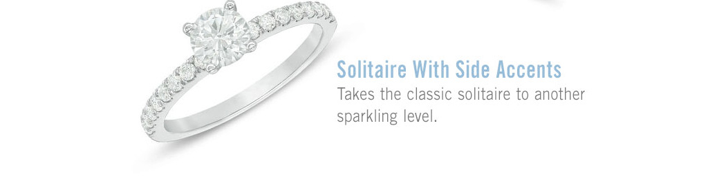 Solitaire with Side Accents: Takes the classic solitaire to another sparkling level.
