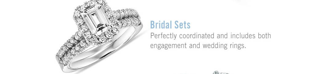 Bridal Sets: Perfectly coordinated and includes both enagagement and wedding rings.