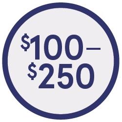 Shop $100-$250