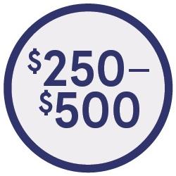 Shop $250-$500