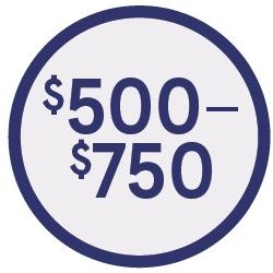 Shop $500-$750