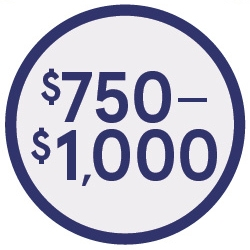 $750-$1000