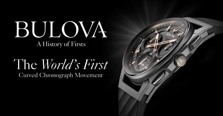 ccdaf6a96 Home · Watches; Bulova Curv. Bulova - A History of Firsts. The World's First  Curved Chronograph Movemement.